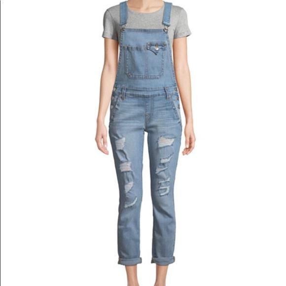 fd639513887 True Religion Jeans | New Womens Distressed Bf Overalls M | Poshmark